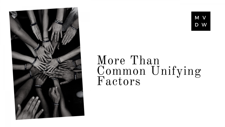 More Than Common Unifying Factors